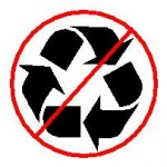Image of a no-recycle symbol
